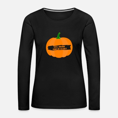 Halloween Pumpkin Shirt for Halloween - Långärmad premium-T-shirt dam