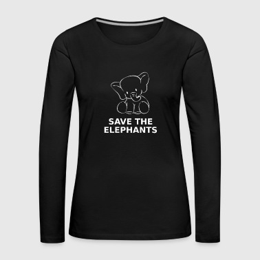 Save the elephant animal welfare species protection environment - Women's Premium Longsleeve Shirt