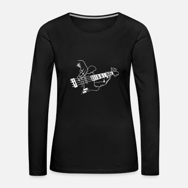 Bass Guitar Player Music Guitarist Musician Rock - Women's Premium Longsleeve Shirt
