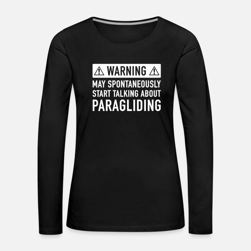 Son Long Sleeve Shirts - Funny Paragliding Gift Idea - Women's Premium Longsleeve Shirt black