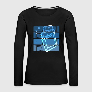 Blue Retro Chocolate - Frauen Premium Langarmshirt