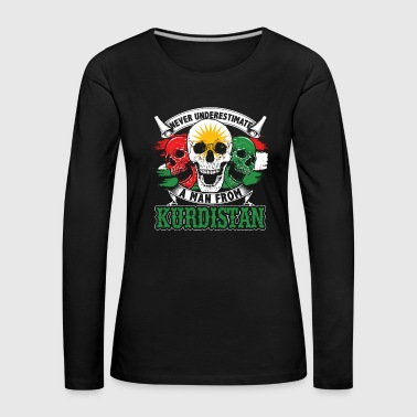 Kurdistan independence Turkey state country nation - Women's Premium Longsleeve Shirt