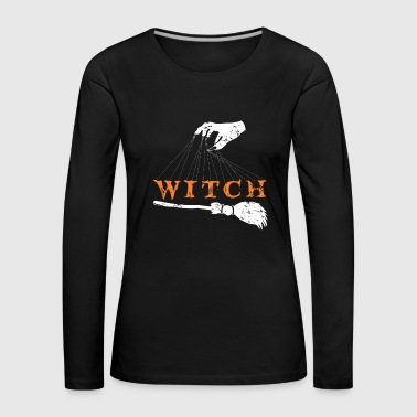 Witch gift Halloween ghost ghost - Women's Premium Longsleeve Shirt