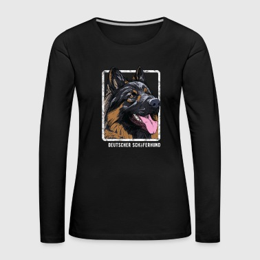 Dogs - German Shepherd - Women's Premium Longsleeve Shirt