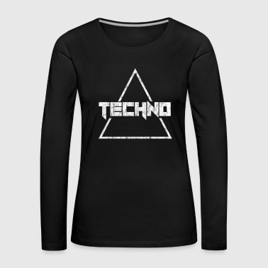 Techno Music Electric House Rave Gift - Women's Premium Longsleeve Shirt