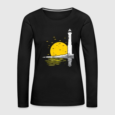 Lighthouse sun Sunset Seagulls - Women's Premium Longsleeve Shirt