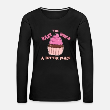 Chef Baking baker muffin sweets pastry chef cupcake - Women's Premium Longsleeve Shirt