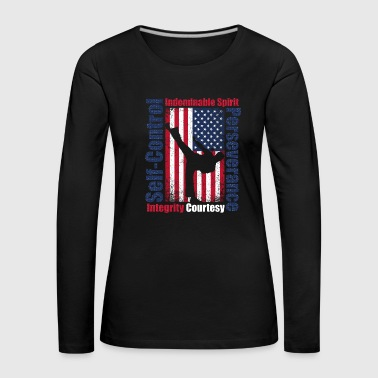 Karate USA Flag America - Women's Premium Longsleeve Shirt