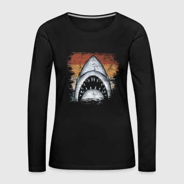 Shark shark fish animal sea creatures gift - Women's Premium Longsleeve Shirt