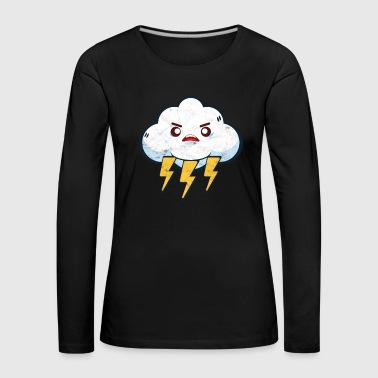 Lightning Thunderstorm Gift Storm Comic Cloud - Women's Premium Longsleeve Shirt