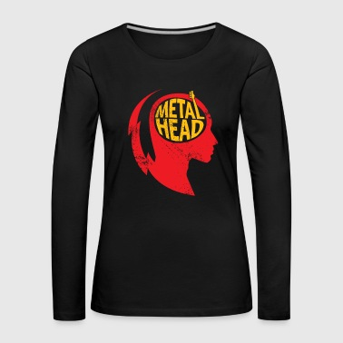 Metal Head Gift Noël Music Rock - T-shirt manches longues Premium Femme