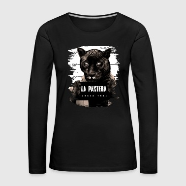 Animal Print Black Panther - Women's Premium Longsleeve Shirt