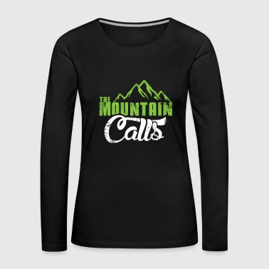 The mountain gets a Christmas gift hiking - Women's Premium Longsleeve Shirt