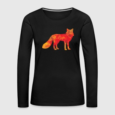 Fuchs Aquarell - Fox Watercolor - Frauen Premium Langarmshirt