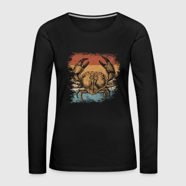 Crab crustacean sea creatures gift animal - Women's Premium Longsleeve Shirt