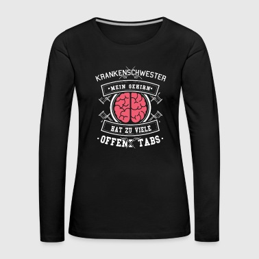 Nurse Shirt · Nurse · Brain - Women's Premium Longsleeve Shirt