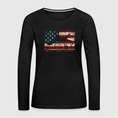 Rugby Blood Sweat Bruises Player USA - Premium langermet T-skjorte for kvinner