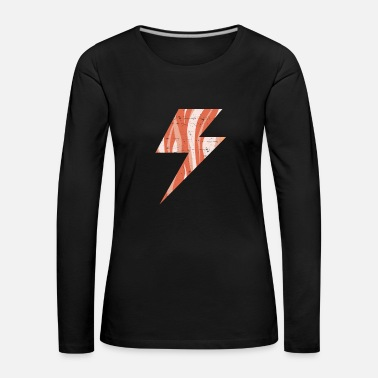 Lightning Bolt Bacon Lightning Bolt Keto Diet shocking - Women's Premium Longsleeve Shirt