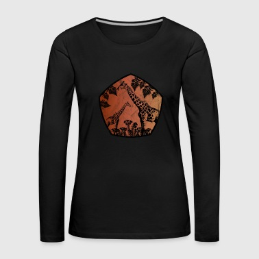 Gorilla Africa giraffe wilderness wildlife gift South Africa - Women's Premium Longsleeve Shirt