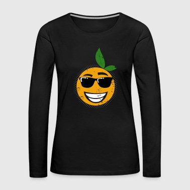 Off Orange with sunglasses kids outfit summer - Women's Premium Longsleeve Shirt