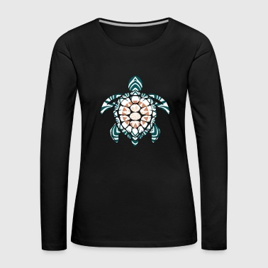 India Mandala Turtle Gift Kids Colorful - Premium langermet T-skjorte for kvinner