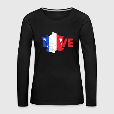 Paris Love France gift Christmas trip - Women's Premium Longsleeve Shirt