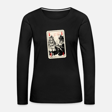 Alice In Wonderland Queen Of Hearts - Alice in Wonderland - Through the Looking Glass - Women's Premium Longsleeve Shirt