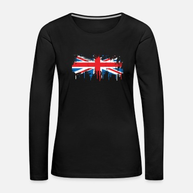 London Flag melts flowing fresh color gift - Women's Premium Longsleeve Shirt