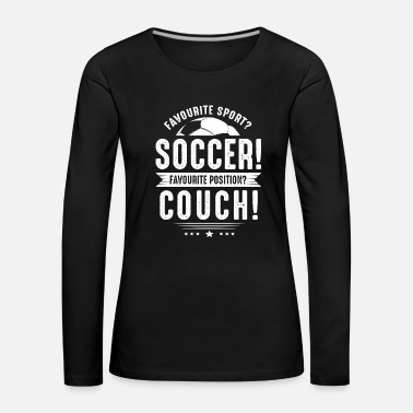 Amusant Football Football Sports Gift · - T-shirt manches longues Premium Femme