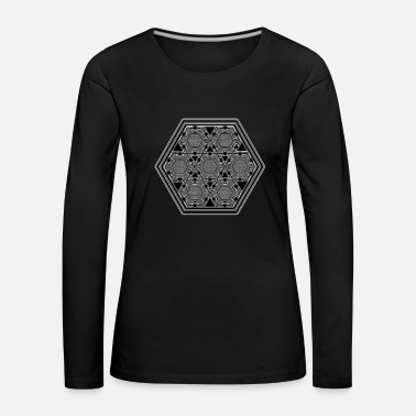 Sieraden Geometry Tattoo Pattern Om Sign Flower of Life - Vrouwen Premium shirt met lange mouwen