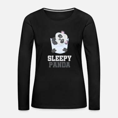 Teddy Panda bear panda bear breast pocket sleeping gift - Women's Premium Longsleeve Shirt