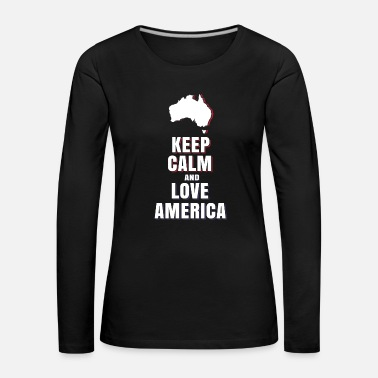 Obama Love USA America - Women's Premium Longsleeve Shirt