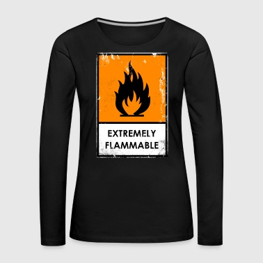 Punk. Chemical hazard Extremely flammable - Women's Premium Longsleeve Shirt