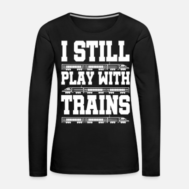 Training Train trains train steam locomotive - Women's Premium Longsleeve Shirt