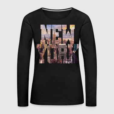 Ny NEW YORK - T-shirt manches longues Premium Femme