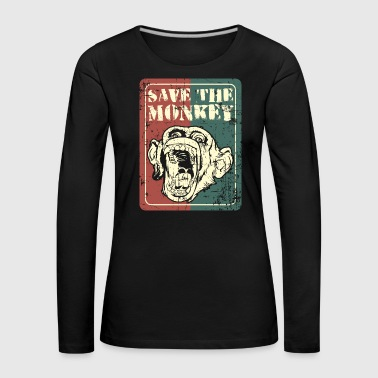 Save the monkey - Women's Premium Longsleeve Shirt