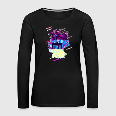Lilac Republic of Germany 80s Retro Violet - Women's Premium Longsleeve Shirt