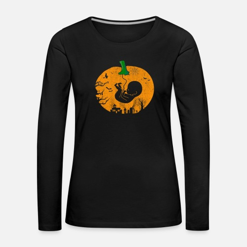 Schwangerschaft Kurbis Halloween Herbst Kostum Frauen Premium