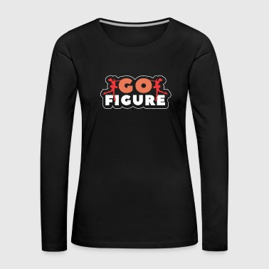 Ice Scating Go Figur Tee Shirt - Premium langermet T-skjorte for kvinner