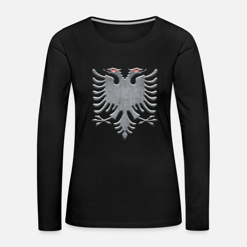Belgrade Long Sleeve Shirts - Albanian eagle iron - Women's Premium Longsleeve Shirt black