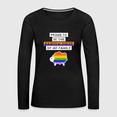 Lettering Proud to be LGBT Sheep - Women's Premium Longsleeve Shirt