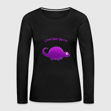 Purple Little Baby Saurus - Women's Premium Longsleeve Shirt