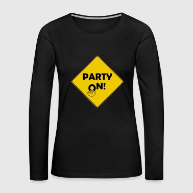 Party Shield sur - T-shirt manches longues Premium Femme