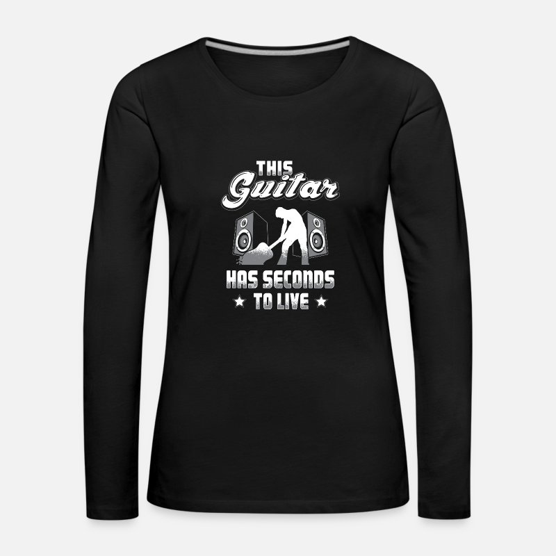 Guitar Long Sleeve Shirts - I love my Guitar - Women's Premium Longsleeve Shirt black