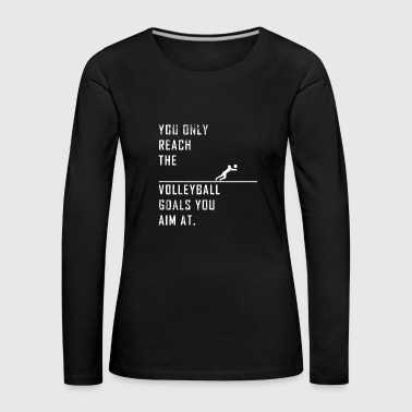 Volleyball volley-ball beach volley cadeau - T-shirt manches longues Premium Femme