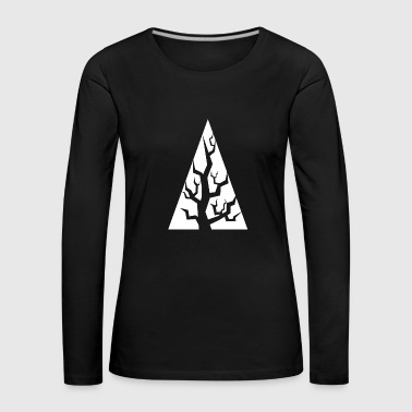 Tree trunk gift triangle nature trees plant - Women's Premium Longsleeve Shirt