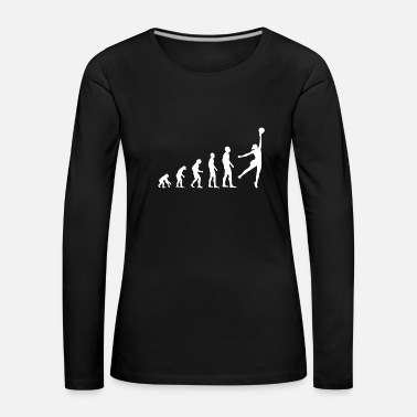 Volleyball Evolution Volleyball - Frauen Premium Langarmshirt