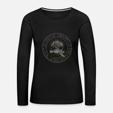 Logo Waldtraene - logo in the rune circle - Women's Premium Longsleeve Shirt