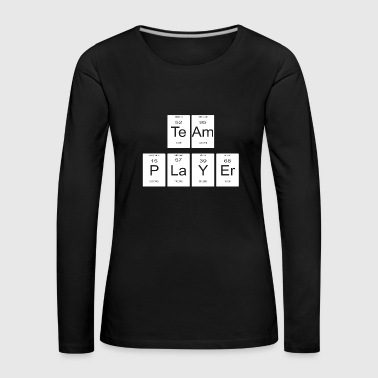 teamplayer periodic table nerd gift - Women's Premium Longsleeve Shirt