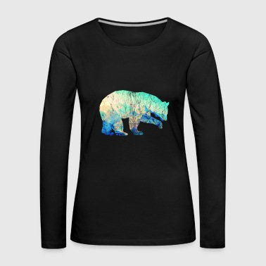 Wildernis Bear Mountains Used Look Gift Idea - Vrouwen Premium shirt met lange mouwen